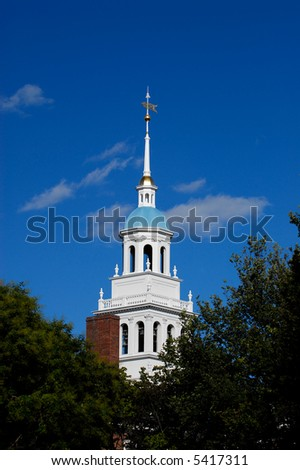 Blue dome of Lowell House at Harvard University
