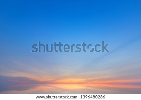 blue dramatic sunset sky texture background. #1396480286