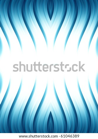 Blue dynamic waves over white background. abstract illustration