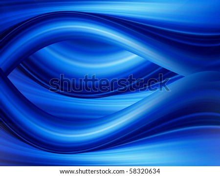 Blue dynamic waves with light effects. Abstract background