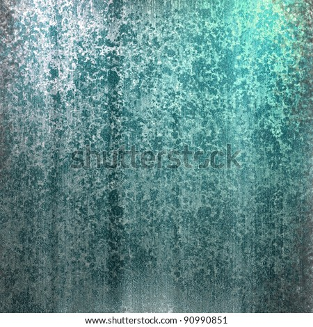 blue eco background with sponge waterfall design illustration with colorful abstract streaks of color and vintage grunge texture with white highlights and copy space