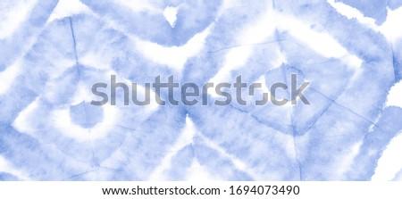 Blue Ethnic Design Watercolor. Tribal Texture Artwork.  Paint Texture Navy Ethnic Art Painting. Blue Abstract Tribal Texture. Mint Blue Indigo Shibori Print.  Ink