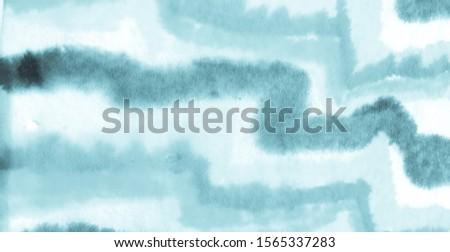Blue Ethnic Painting Art. Abstract Tribal Artwork.  Colorful Art Mint Ethnic Art Pattern. Blue Tribal Ornament  Background. Pastel Bright Indigo Tibetan Pattern.  Light