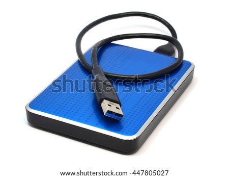blue external hard drive for...