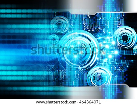 blue eye abstract cyber future technology concept background, illustration, circuit, binary code. move motion speed. sci-fi #464364071