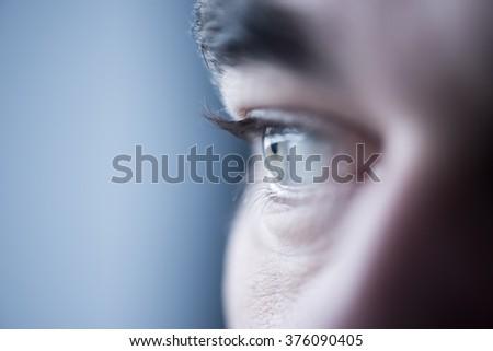 Blue eye close up/selective focus