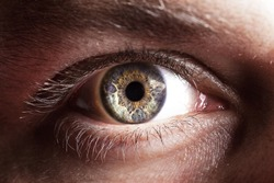 Blue eye of men