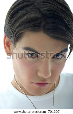 Blue eyes model portrait