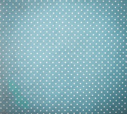 Blue Fabric and White Tiny Polka Dots Background