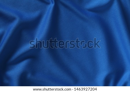 Blue fabric waves background texture/close up of a textile background #1463927204
