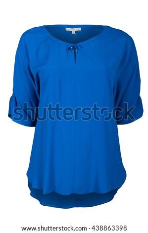 Blue female blouse