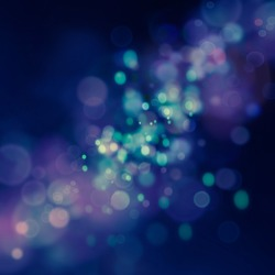 Blue Festive Christmas  elegant  abstract background with  bokeh lights and stars