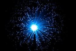 Blue fibre optical burst.