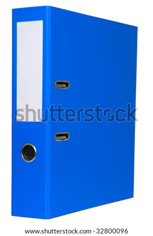 Blue file isolated on white background