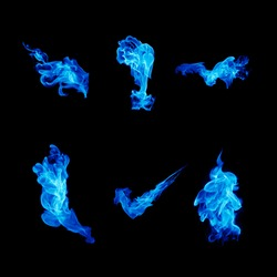 Blue fire collection.