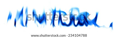 Blue fire light smoke abstract background