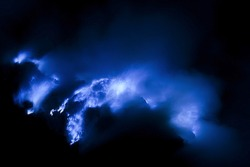 blue fire of Mount Ijen ( visible noise due to high iso )