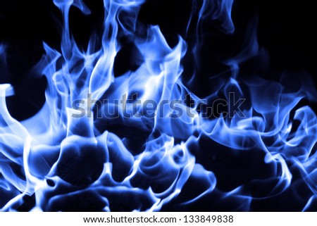 Blue Fire Backgrounds Blue Fire on Black Background