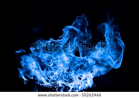 Blue Fire Backgrounds Blue Fire on Black Background