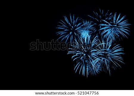Blue Fireworks #521047756