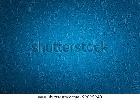 blue floral pattern