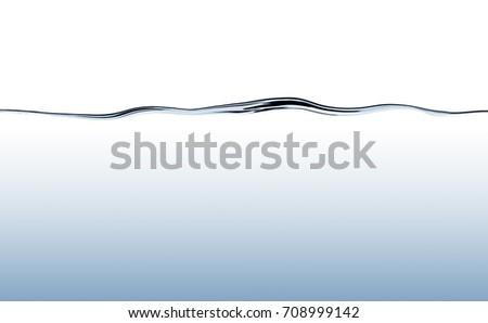 Blue flowing water wave with deep water gradient #708999142