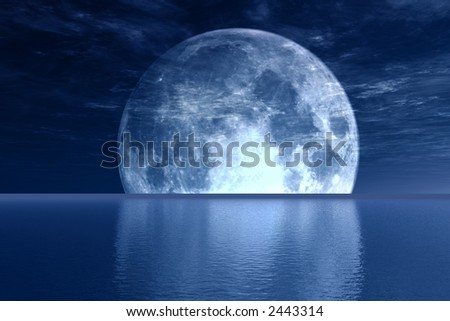 Blue full-moon
