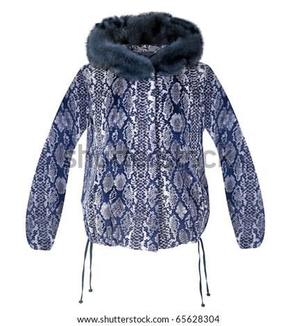blue fur jacket
