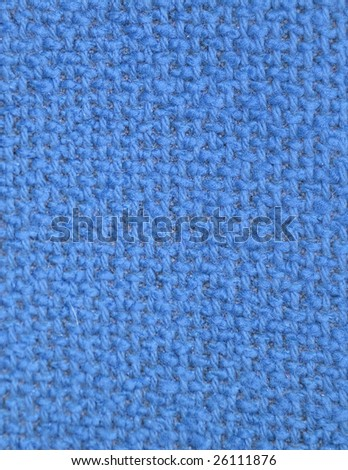 blue Furniture fabrics. texture of the canvas. close-up
