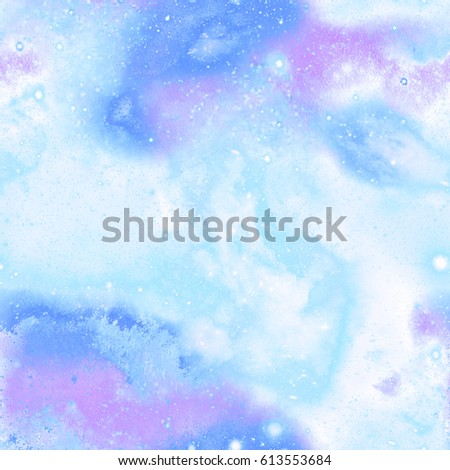 Blue Galaxy Space Marble Print  Seamless Pattern in Repeat