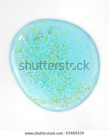 blue gel isolated on white