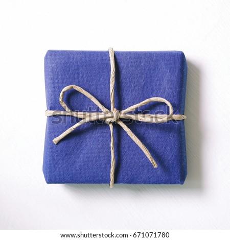 Blue gift on white background #671071780