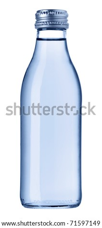 Blue glass bottle isolated [with clipping path]