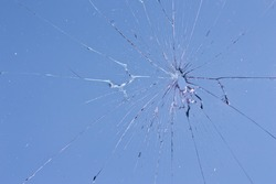 blue glass broken