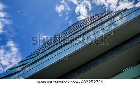 Blue glass building side #682252756