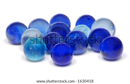 Blue Glass Marbles