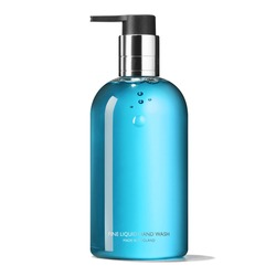 Blue Glass Soap Dispenser Pump Bottle Isolated on White Background. Skin Care Lotion. Bathing Essential Product. Shampoo Bottle. Bath and Body Lotion. Fine Liquid Hand Wash. Bathroom Accessories