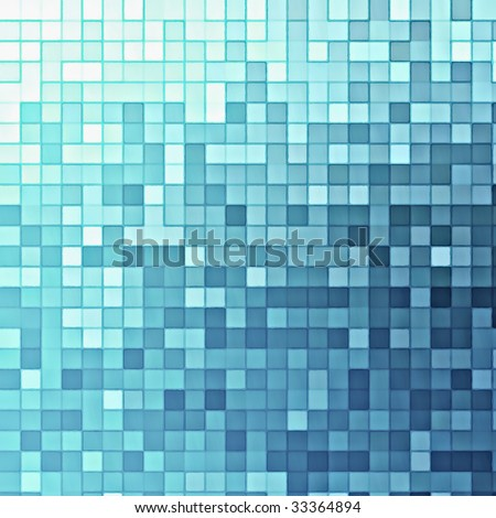 Blue glass squares cubic abstract background bar