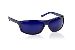 Blue Glasses bioenergetic chromo therapy on white background
