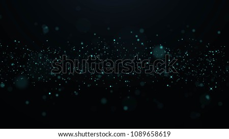 Blue Glitter Background with Light