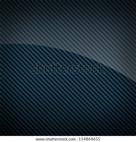 Blue glossy carbon fiber background or texture