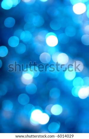 Blue glow light blur