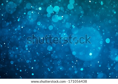 blue glowing bokeh background