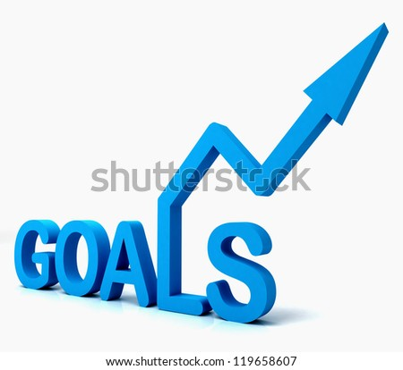 Blue Goals Word Showing Objectives Hope Aiming Mission And Future