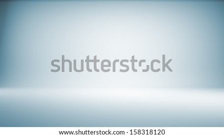 Blue gradient background. 3d rendering. Photo studio