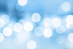 Blue gradient background or bokeh abstract design for wallpaper.