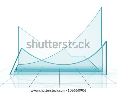 Blue graph 3D rendering