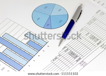 Blue Graphs with Spreadsheet and Pen