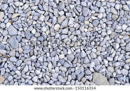 Blue gravel rocks texture background