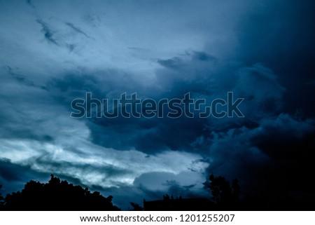Blue great sky #1201255207